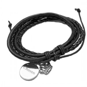 chosen leatherette black