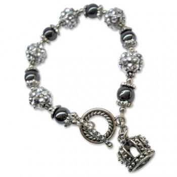 3D Royal Crown Bling Bracelet
