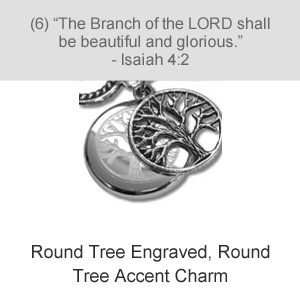 Round Tree Engraved, Round Tree Accent Charm