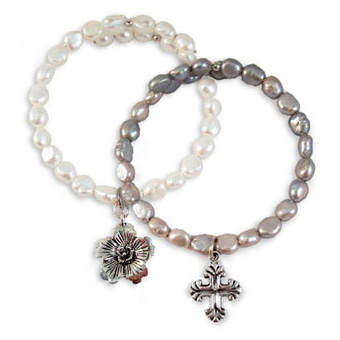 Charmed Fresh Water Pearl Bracelet