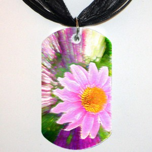 The Funky Pink Coneflower Tag (Front)