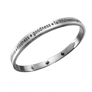 Fruit of the Spirit Stainless Steel Bangle Bracelet