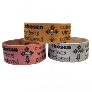Leather WORD For Women Bracelet