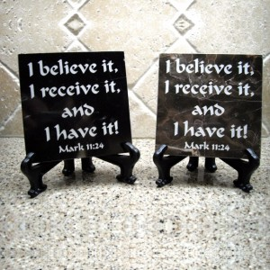 Mark 11:24 Believe Tile
