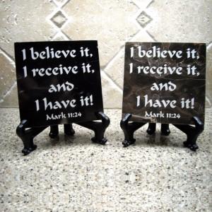 Mark 11:24 Believe Tile