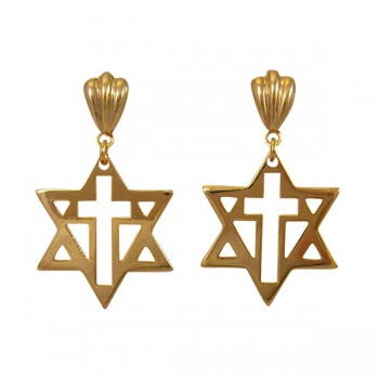 New Covenant Star Earrings (Gold)