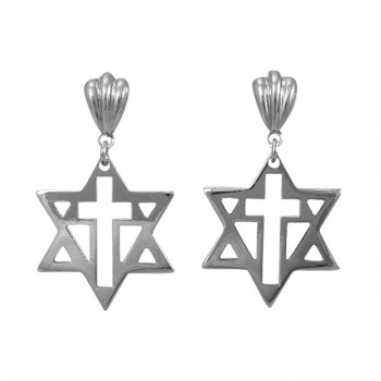 New Covenant Star Earrings (Rhodium)
