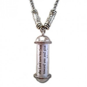Scripture Scroll Prayer Pendant