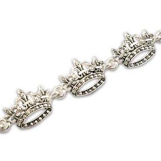 Seven Crown Bracelet (Fleur de leis Style)