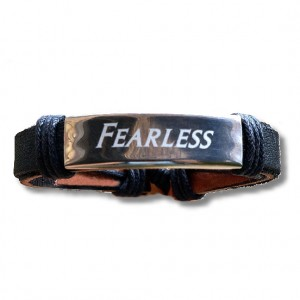 Men's Stainless Steel Adjustable Leather Bracelet
