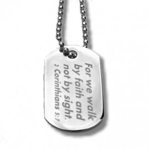 Stainless Steel Scripture Dog Tag