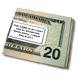 Money Clip with Scripture