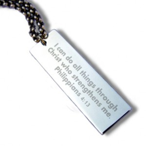 Long Tag Stainless Steel Necklace