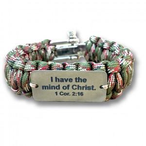 survival bracelet khaki mind of Christ6