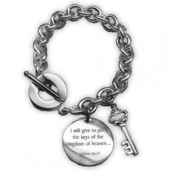 Tiffany Style Charm bracelet with keys of the kingdom2good