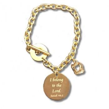gold scripture Charm bracelet final