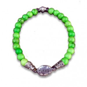 blessed bracelet lime green