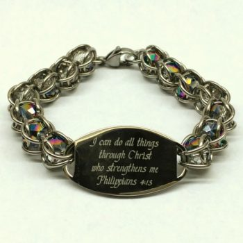 Scripture ID Caged Bead Bracelets