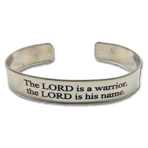 Mens cuff ss The Lord is a Warrior