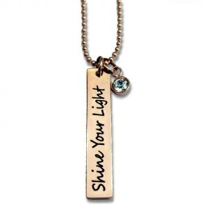Inspirational necklaces blessed bling custom engraved message necklace with accent charm aloadofball Images