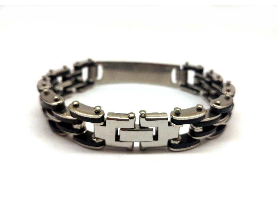 Men S Stainless Steel Bike Chain Scripture Bracelet